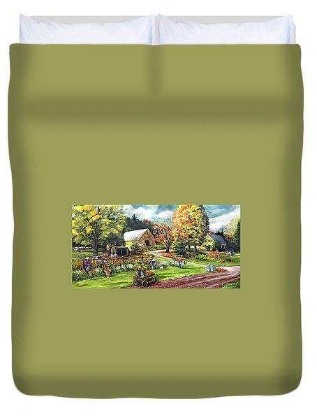 Hodges Farm In Fairlee Vermont Duvet Cover