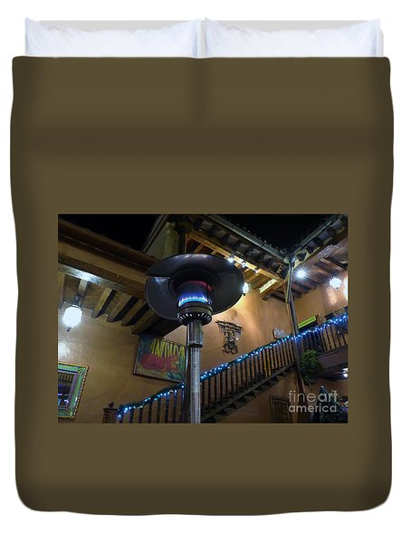 Duvet Cover featuring the photograph Holiday Dining In Patzcuaro by Rosanne Licciardi