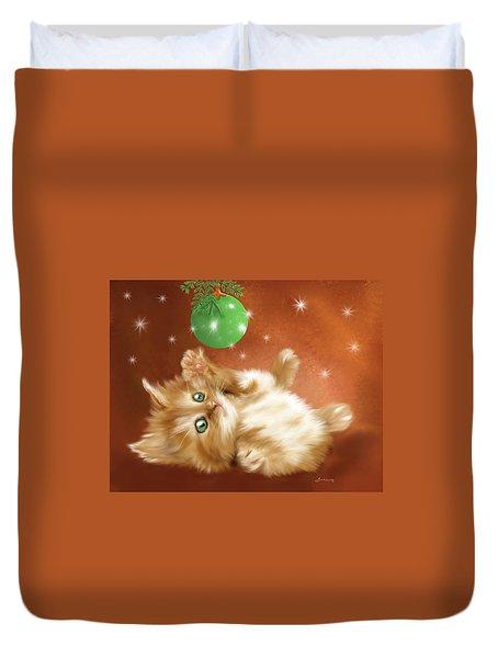Holiday Kitty Duvet Cover