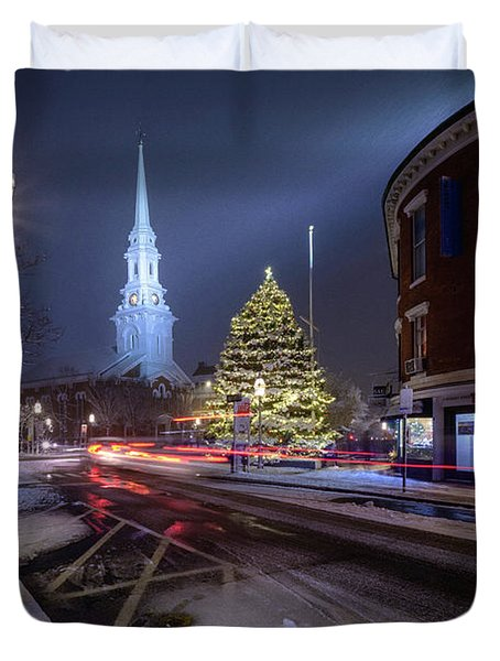 Holiday Magic, Market Square Duvet Cover
