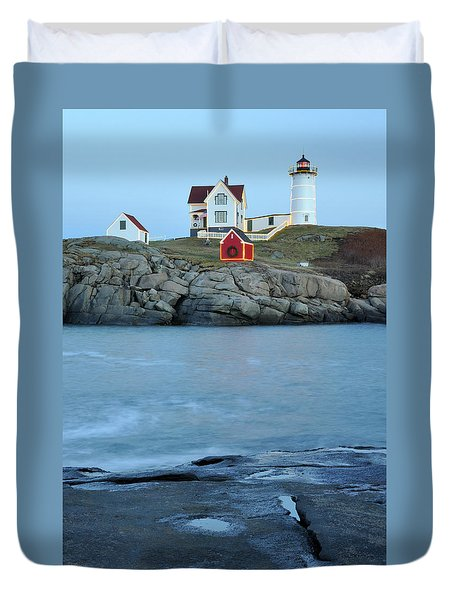 Holiday Nubble On The Rocks Duvet Cover