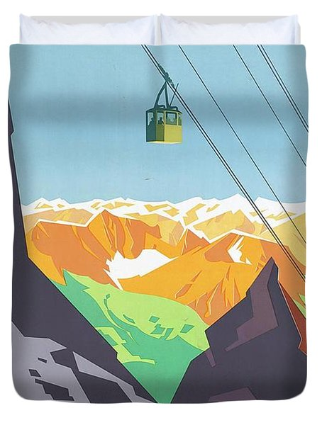 Holidays In Austria Duvet Cover