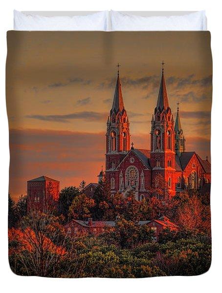 Holy Hill Sunrise Duvet Cover