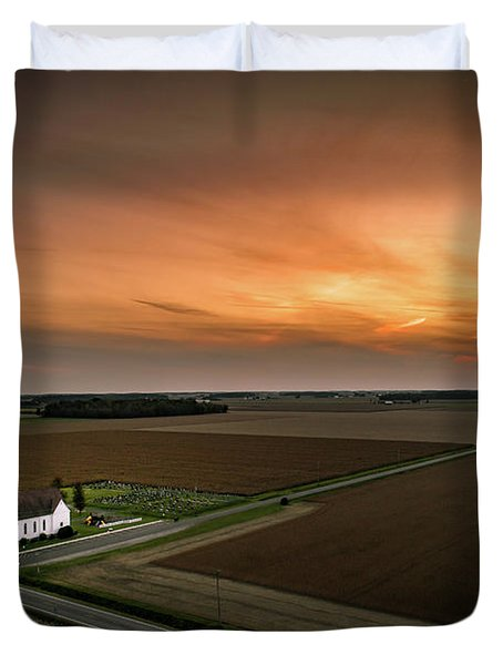 Holy Sunset Duvet Cover