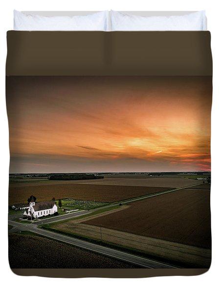 Holy Sunset Duvet Cover