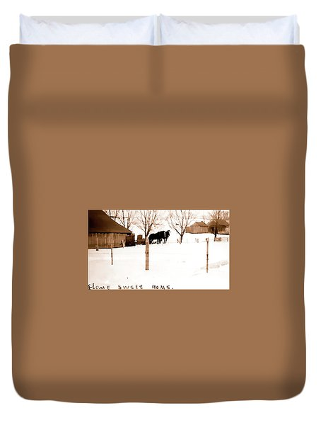 Duvet Cover featuring the photograph Home Sweet Home 1917 by Jerry Sodorff