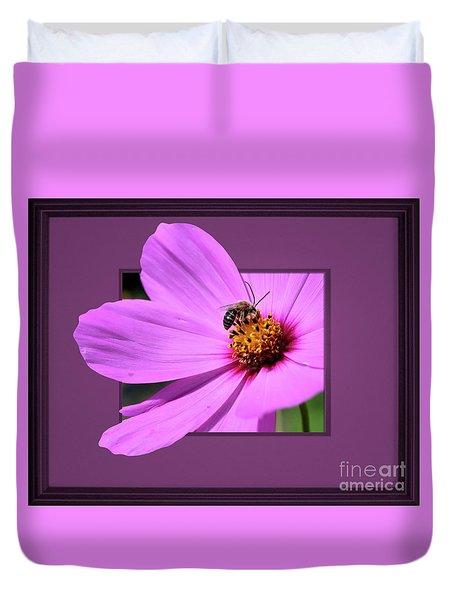 Honey Bee On Pink Duvet Cover