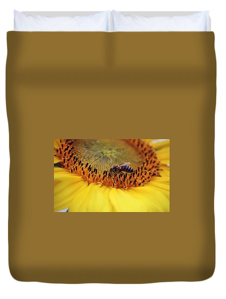 Duvet Cover featuring the photograph Honey by Candice Trimble