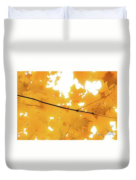 Honey Colored Happiness Duvet Cover