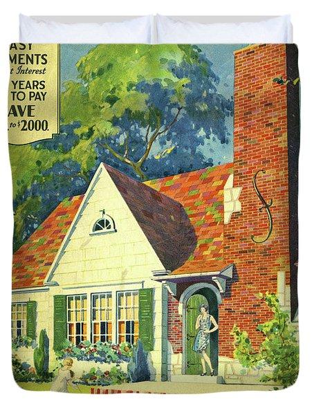 Honor Bilt Modern Homes Sears Roebuck And Co 1930 Duvet Cover