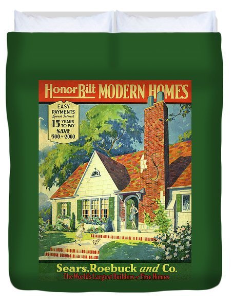 Honor Bilt Modern Homes Sears Roebuck And Co 1930 Duvet Cover