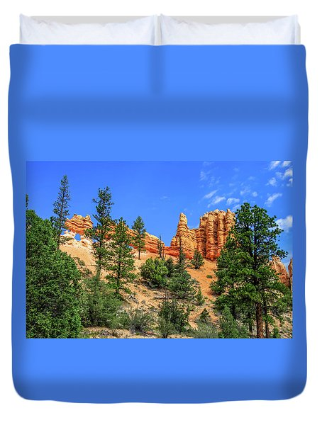 Duvet Cover featuring the photograph Hoodoo Heaven by Dawn Richards