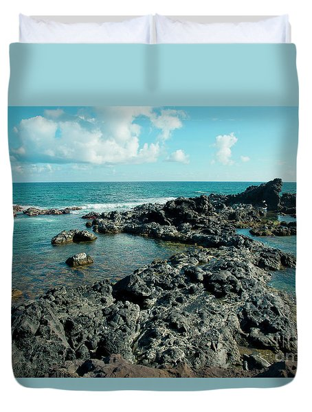 Duvet Cover featuring the photograph Hookipa Song Of The Sea by Sharon Mau