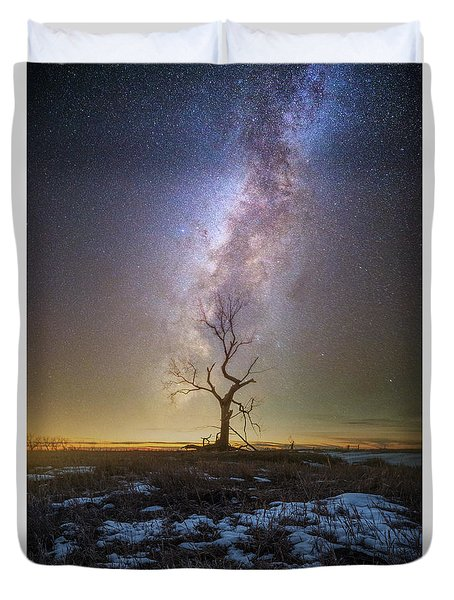 Duvet Cover featuring the photograph Hopeless He Stays  by Aaron J Groen