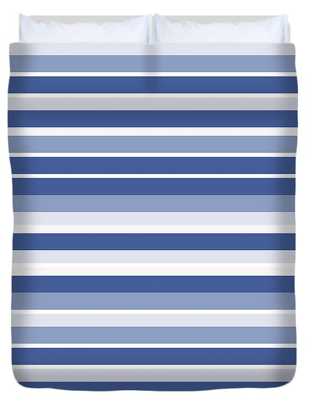 Horizontal Lines Background - Dde607 Duvet Cover