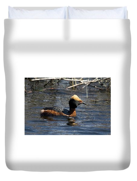 Horned Grebe 102713 Duvet Cover