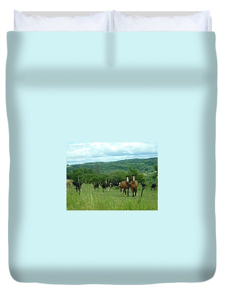 Horse And Cow Duvet Cover