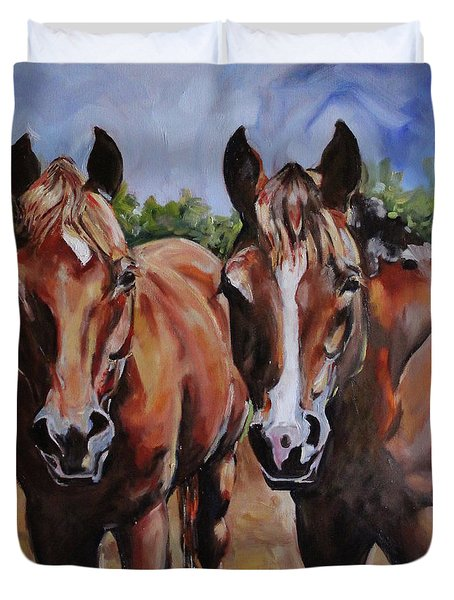 Horse Art  Duvet Cover