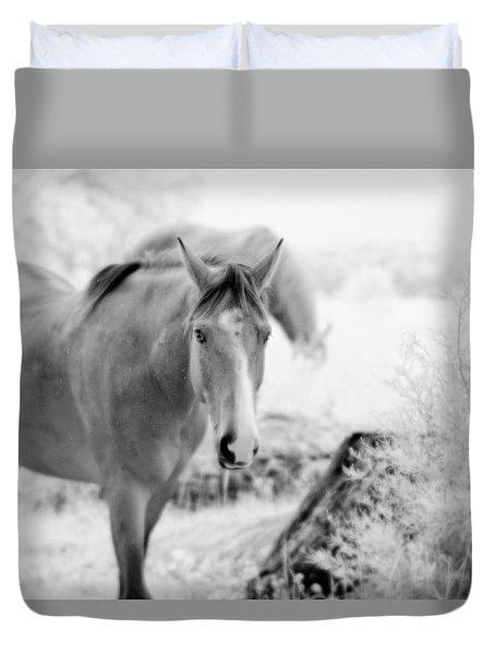 Horse In Infrared Duvet Cover