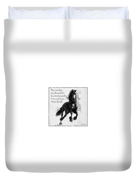 Horse's Profound Spirit  Duvet Cover