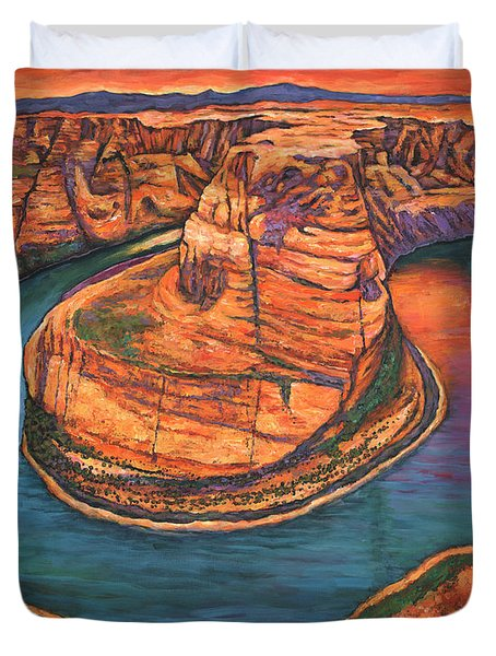 Horseshoe Bend Sunset Duvet Cover
