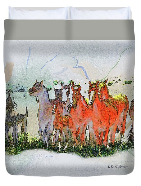 Horsing Around 6 Duvet Cover