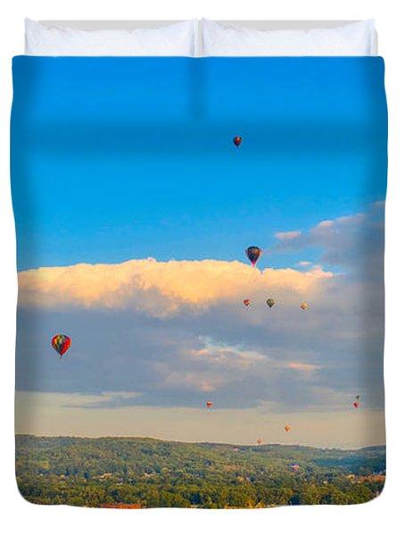 Hot Air Ballon Cluster Duvet Cover