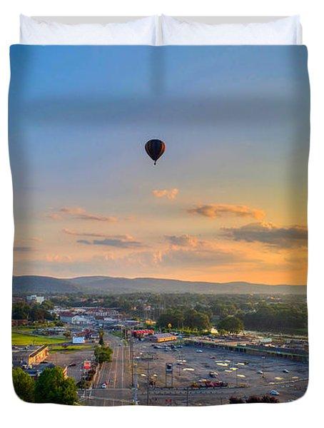 Hot Air Ballon Sunset Duvet Cover
