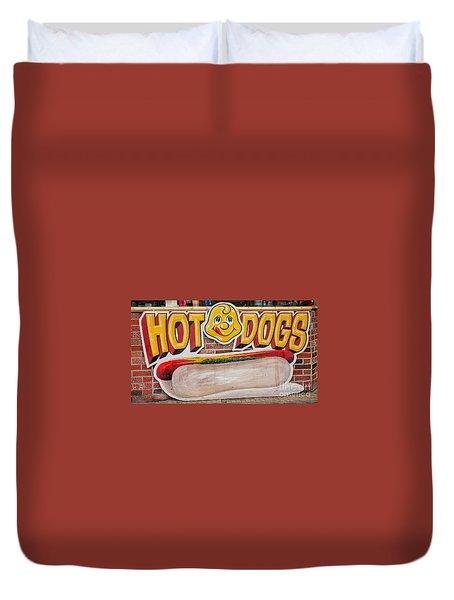 Hot Dogs Duvet Cover
