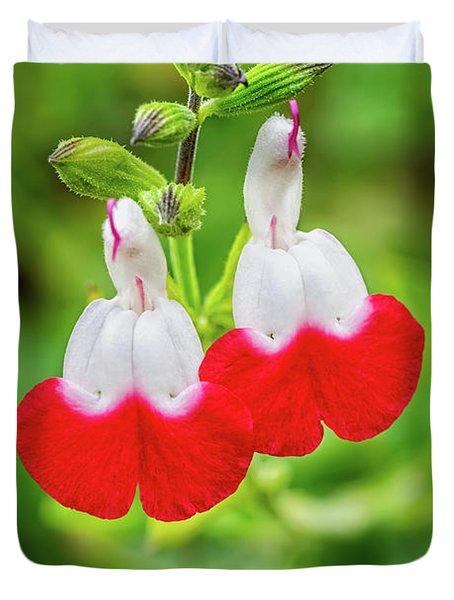 Hot Lips Flower Duvet Cover