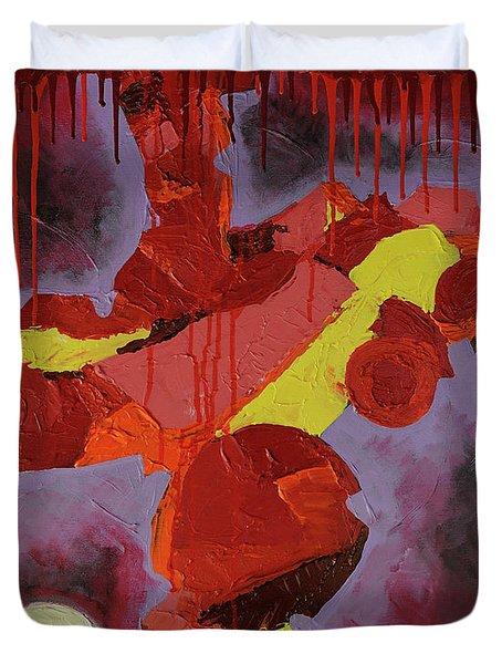 Hot Red Duvet Cover