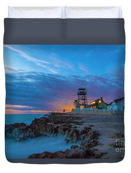 Duvet Cover featuring the photograph House Of Refuge Morning by Tom Claud