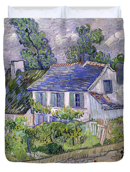 Houses At Auvers, Circa 1890 Duvet Cover
