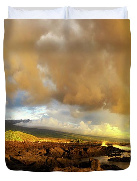 Hualalai Sunset Duvet Cover