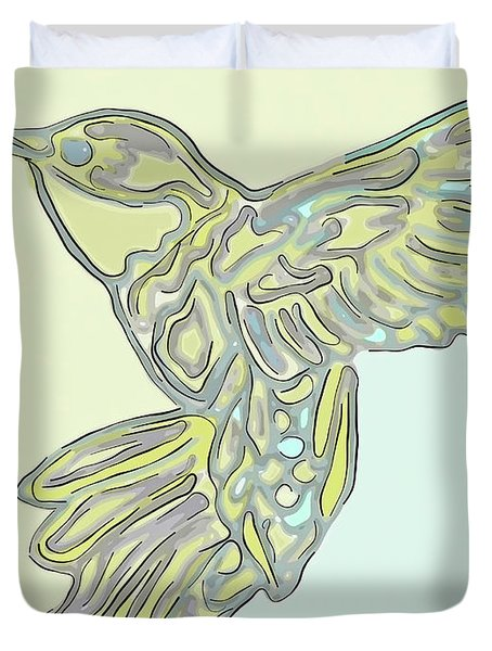 Hummer Soft-colors In The Morning Sky Duvet Cover