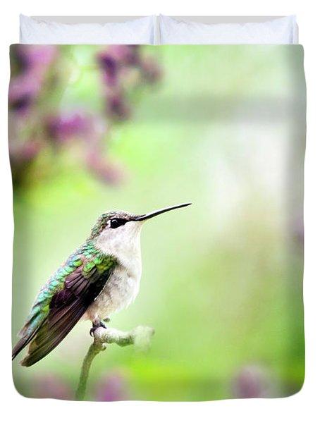Hummingbird Charm Duvet Cover