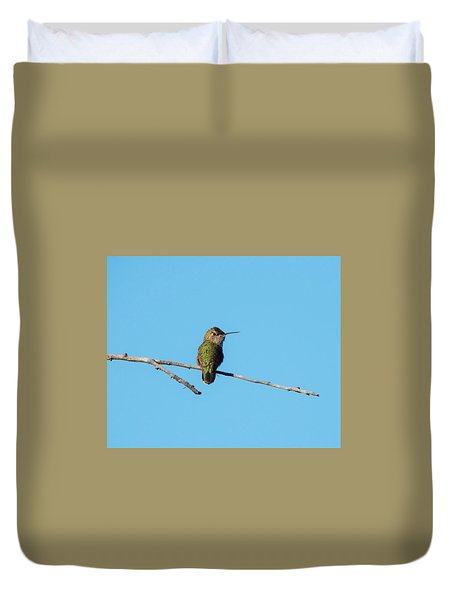 Duvet Cover featuring the photograph Hummingbird by Lukas Miller