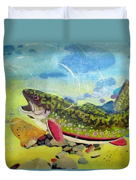 Hungry Trout Duvet Cover