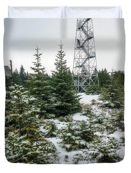 Hunter Mountain Fire Tower Duvet Cover
