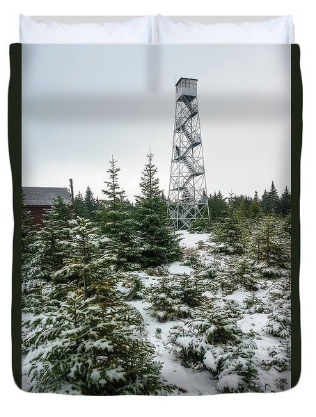 Hunter Mountain Fire Tower Duvet Cover
