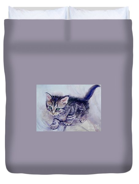 Hunting For A Mouse Duvet Cover