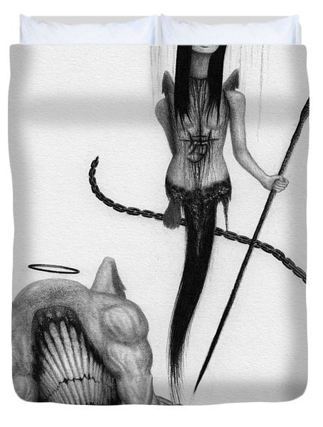Huntress - Artwork Duvet Cover