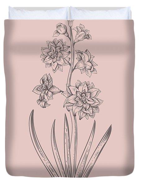 Hyacinth Blush Pink Flower Duvet Cover