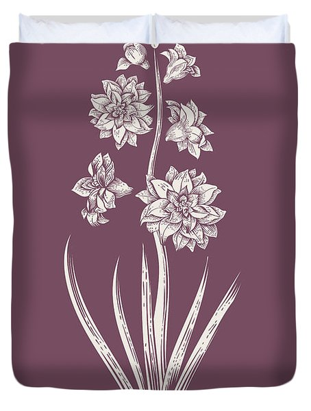 Hyacinth Purple Flower Duvet Cover