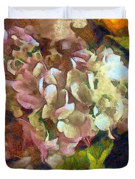 Hydrangea Love Duvet Cover