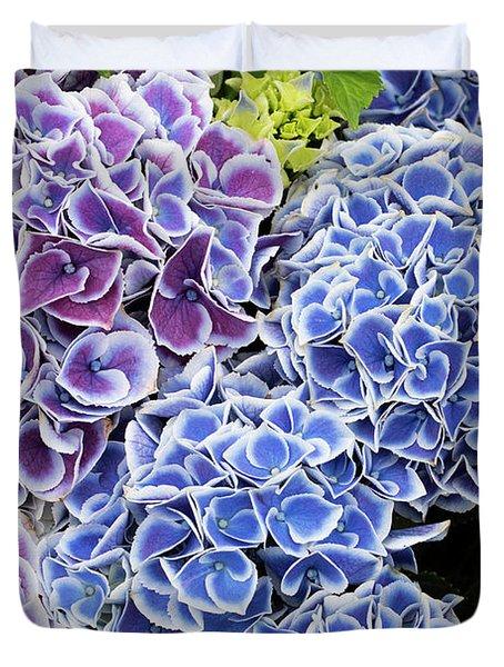 Hydrangea Tivoli Blue Flowers Duvet Cover