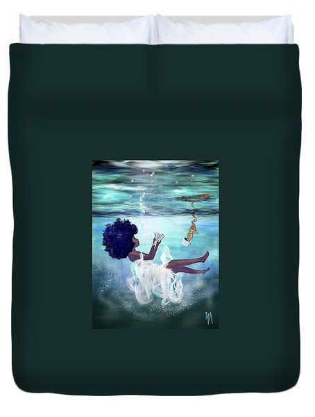 I Aint Drowning Duvet Cover