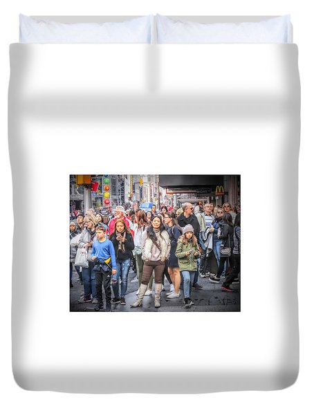 I See You, Mr. Photographer Duvet Cover