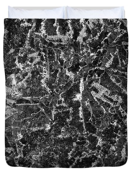 Ice Abstraction II Bw Duvet Cover