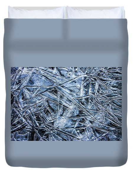 Duvet Cover featuring the photograph Ice Crystals by Dawn Richards